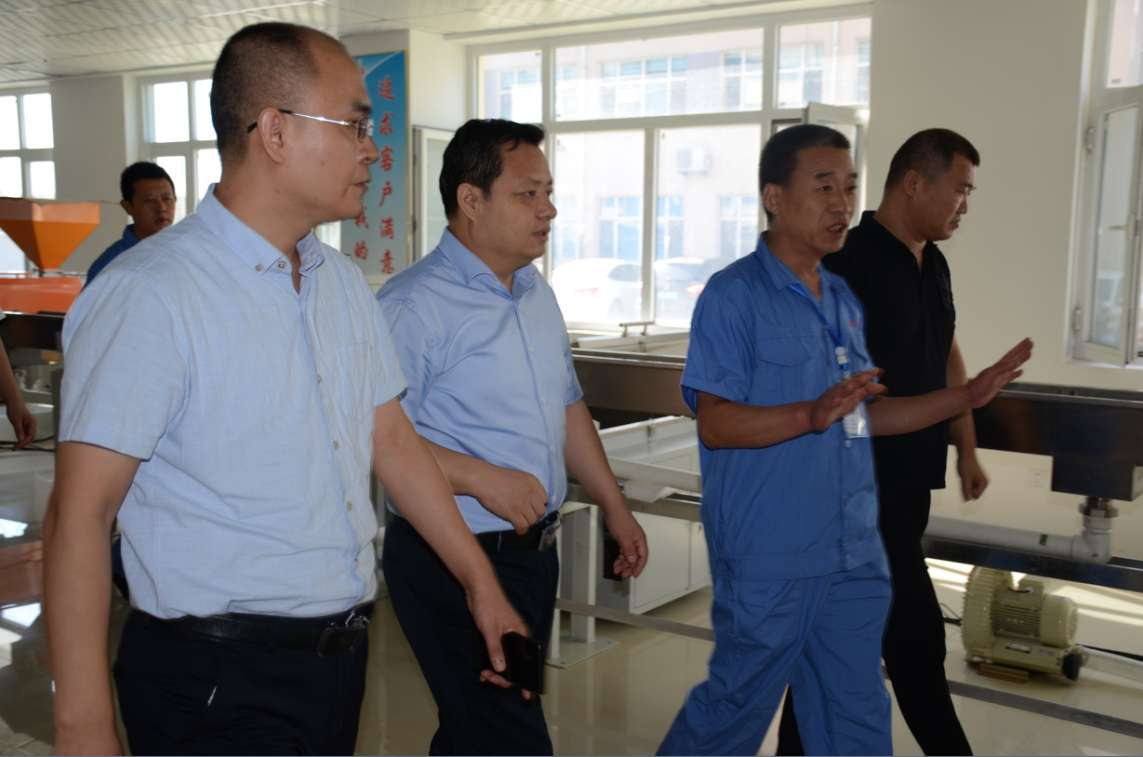 The leaders of the county party committee visited the company and guided the work